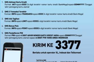 Cara Aktivasi Pin Kartu Kredit Bank Mega Via SMS