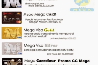 Limit Kartu Kredit Bank Mega Gold